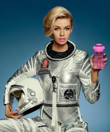 Stella Maxwell stars in Moschino Toy 2 Bubblegum fragrance campaign.