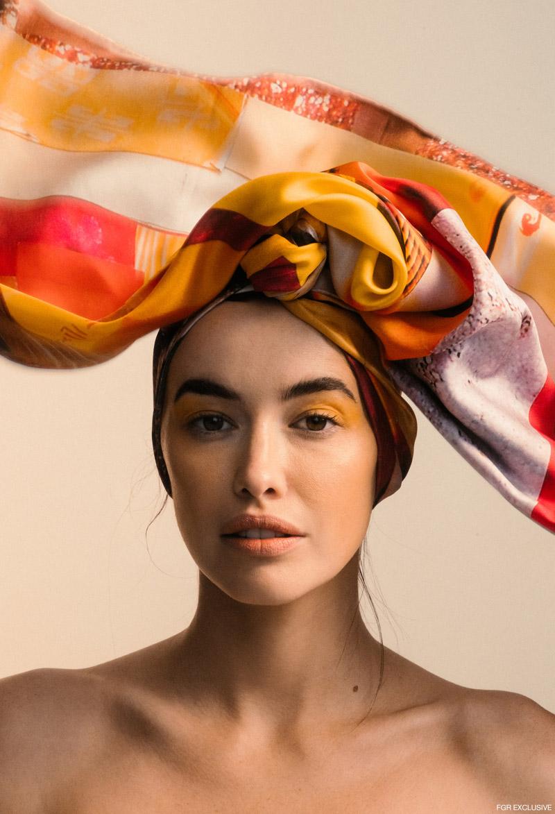 Sarah wears Discover Colour Silk Scarf. Photo: Charles Gran