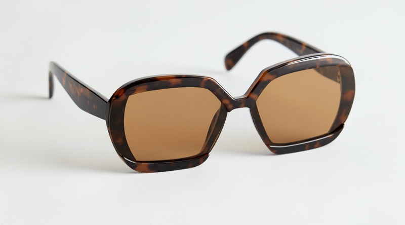 & Other Stories Squared Sunglasses in Tortoise $39