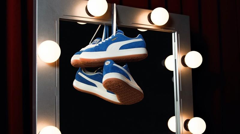 PUMA Suede Mayu sneaker in blue.