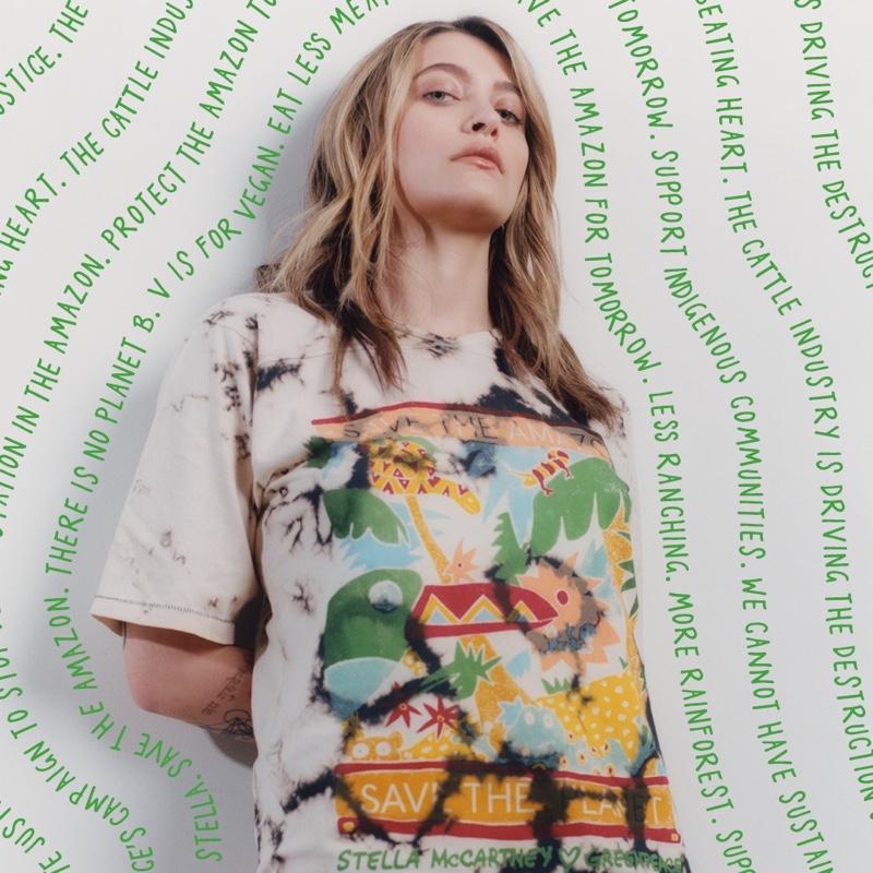 Paris Jackson appears in Stella McCartney x Greenpeace campaign.