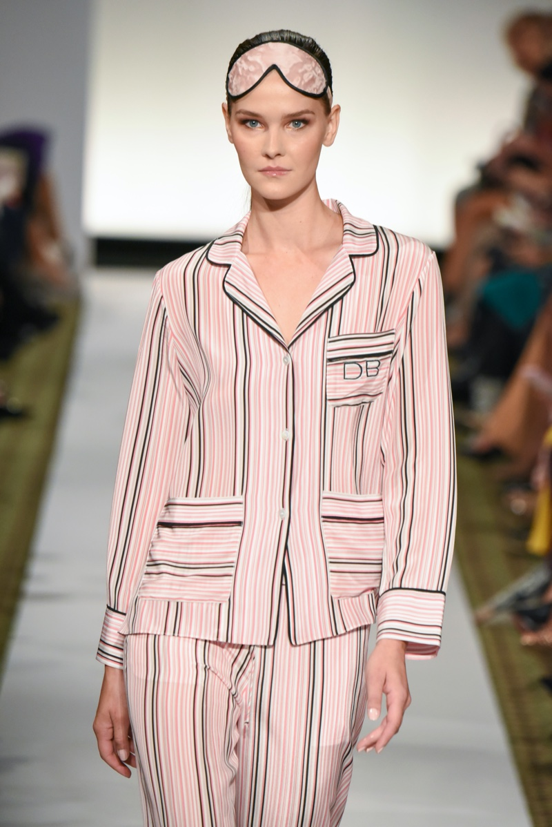 Pink Pajamas Eye Mask Runway Catwalk Dennis Basso