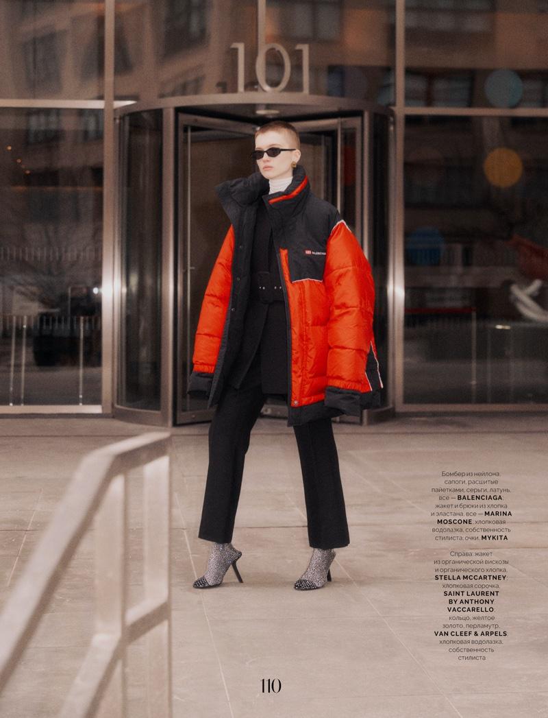 Ruth Bell Wears City Slicker Looks for Vogue Ukraine