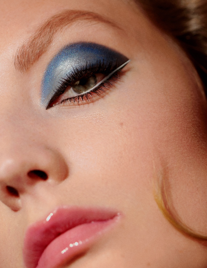 Susanne Knipper Models Cat-Eye Makeup for InStyle Spain