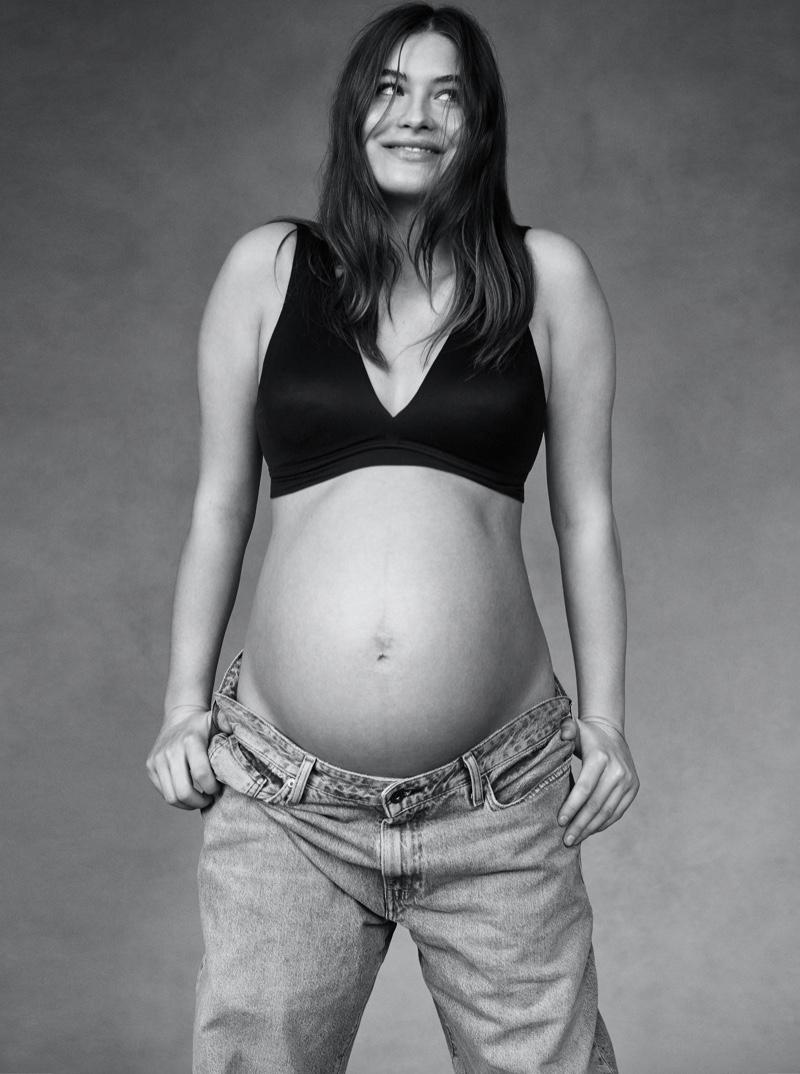 A pregnant Grace Elizabeth stars in Victoria's Secret Mother's Day 2021 campaign.