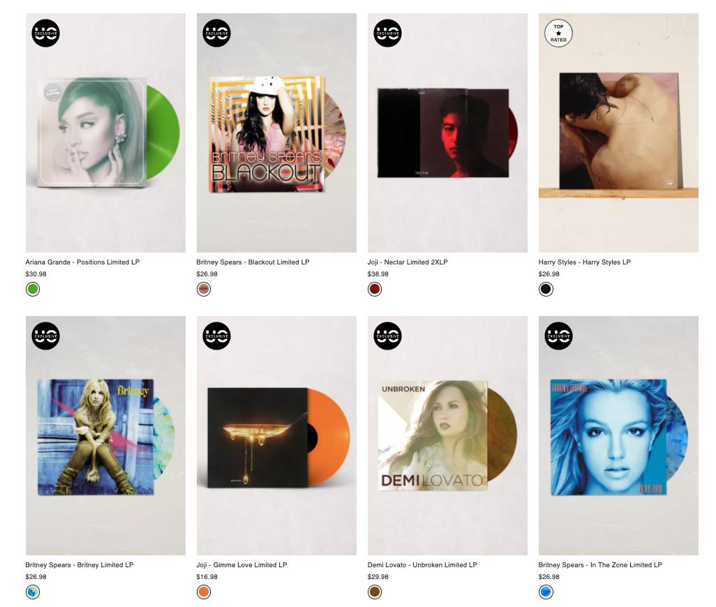 Vinyl Records Pop