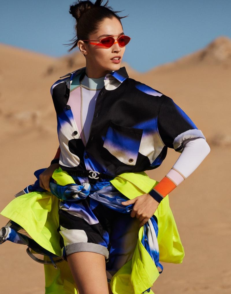 Vita Mir Models Vibrant Desert Fashion for Grazia China
