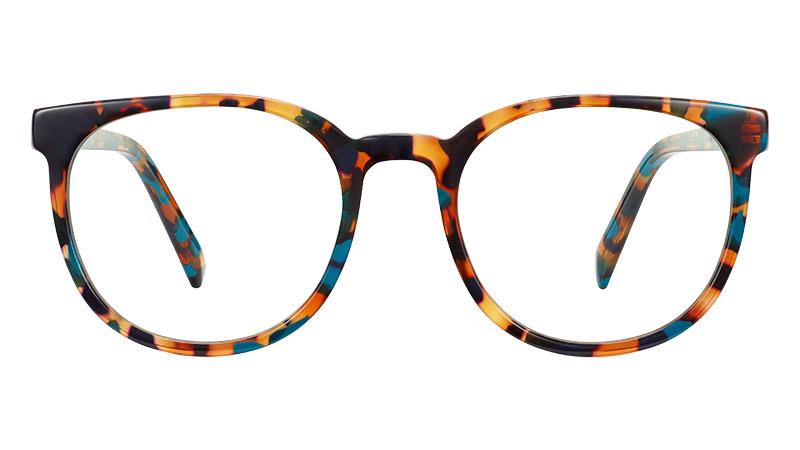 Warby Parker Gillian Glasses in Teal Tortoise $95