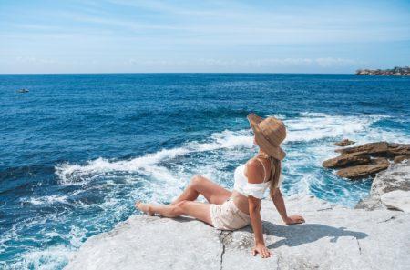 Woman Relaxing Australia Beach Travel