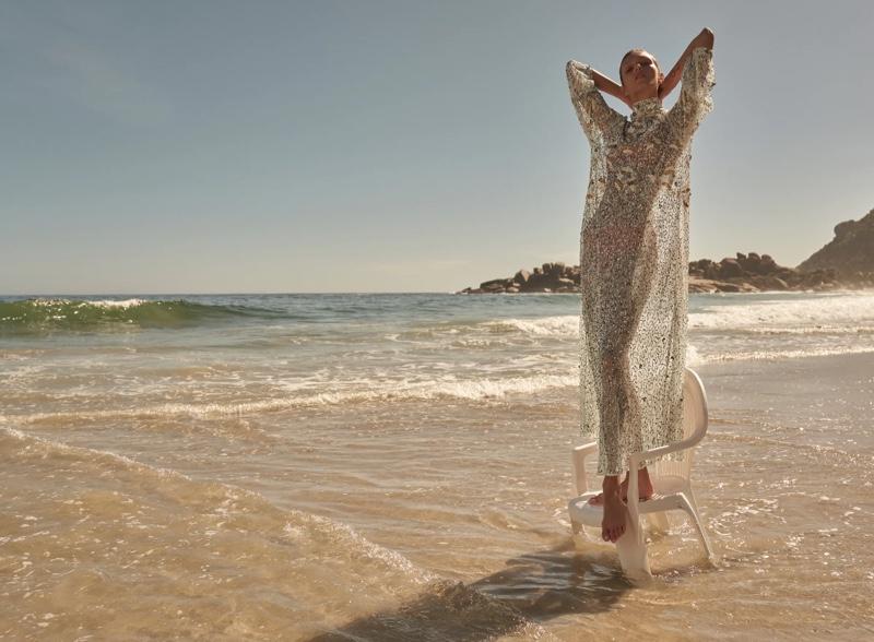 Zara Limited Edition Long Sequin Dress.