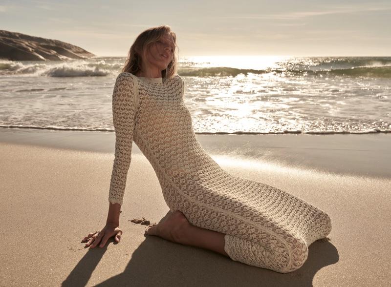 Zara Pointelle Knit Dress.