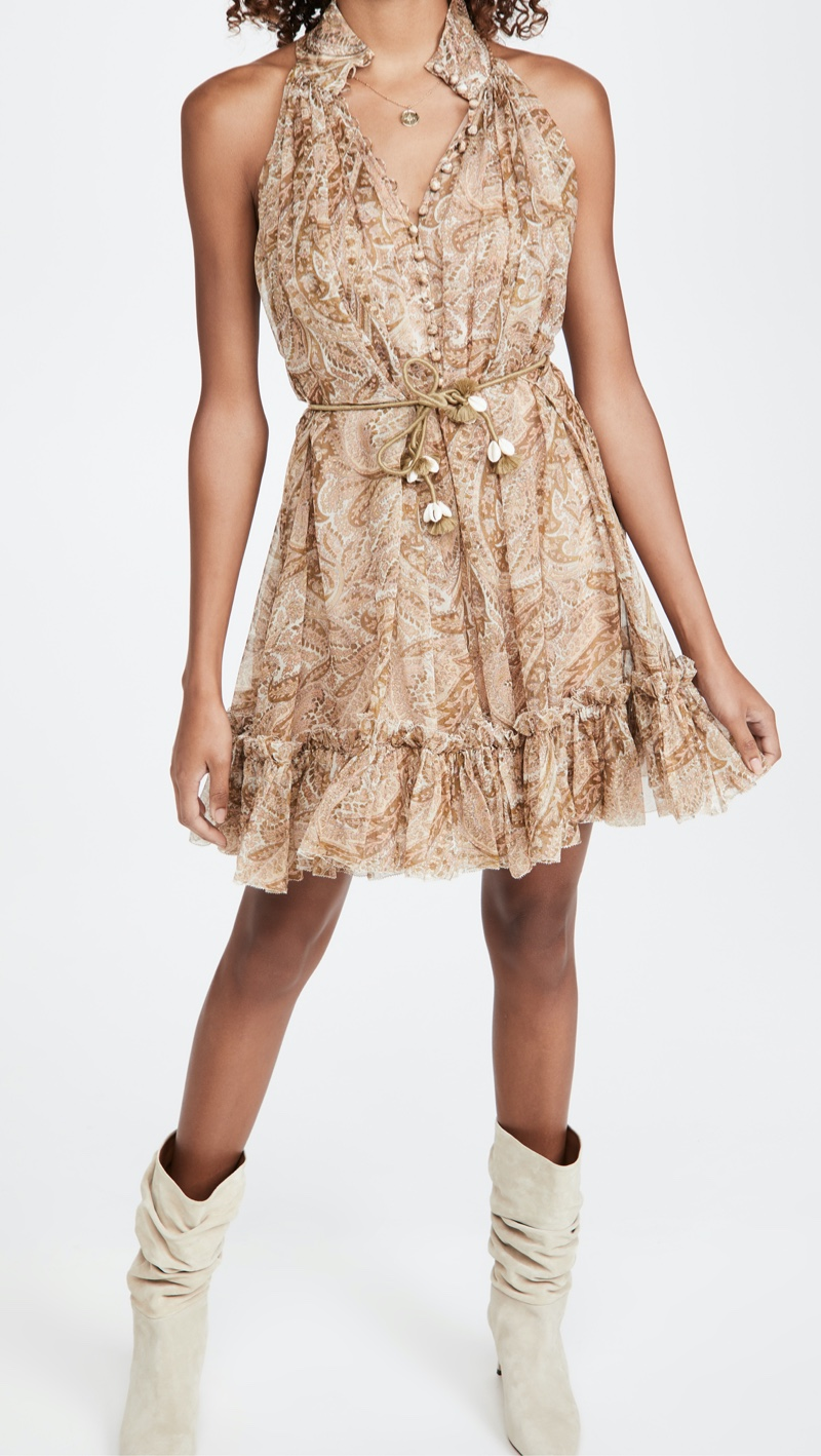 Zimmermann Brighton Halter Short Dress
