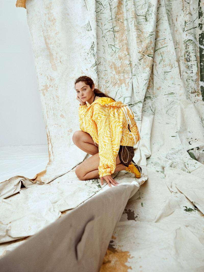 Ana Rujas poses in Fendi Vertigo capsule collection.