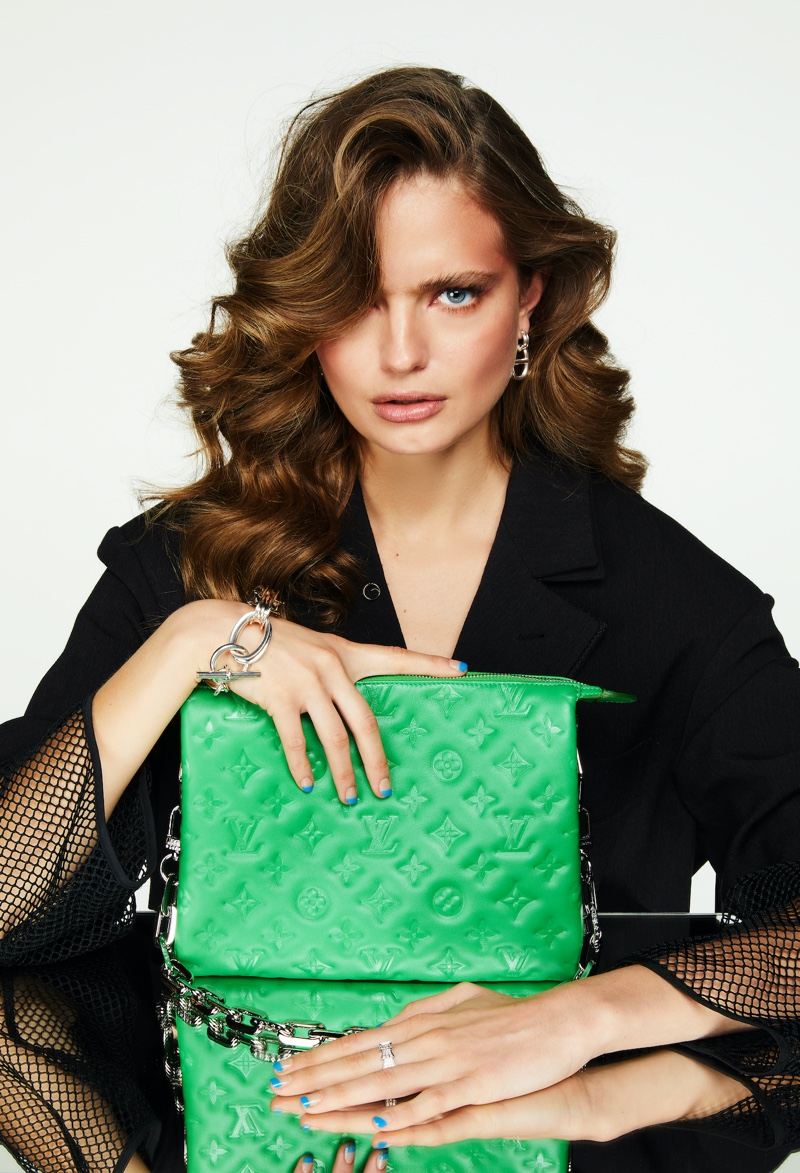 Anna Mila Guyenz Wears Statement Bags for InStyle Germany