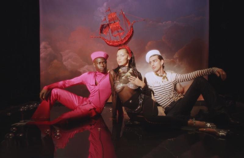 Jean Paul Gaultier unveils Les Marins campaign.