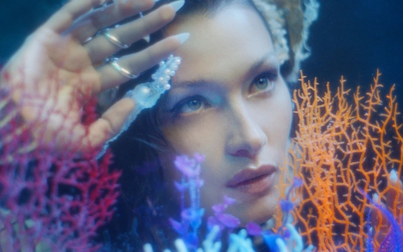 Ready for her closeup, Bella Hadid fronts Jean Paul Gaultier Les Marins campaign.