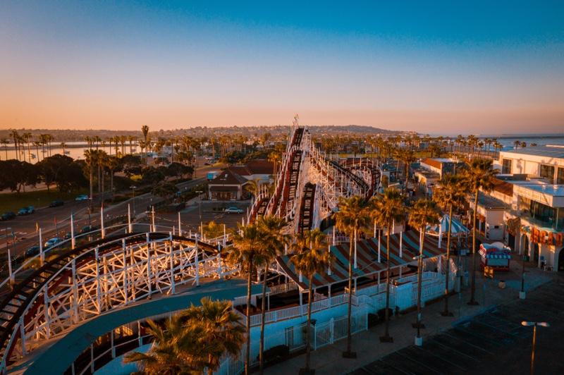Belmont Park Giant Dipper Roller Coaster