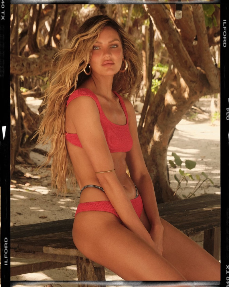 Tropic of Scorpio Top in Hot Pink and High Curve Bottom in Hot Pink.