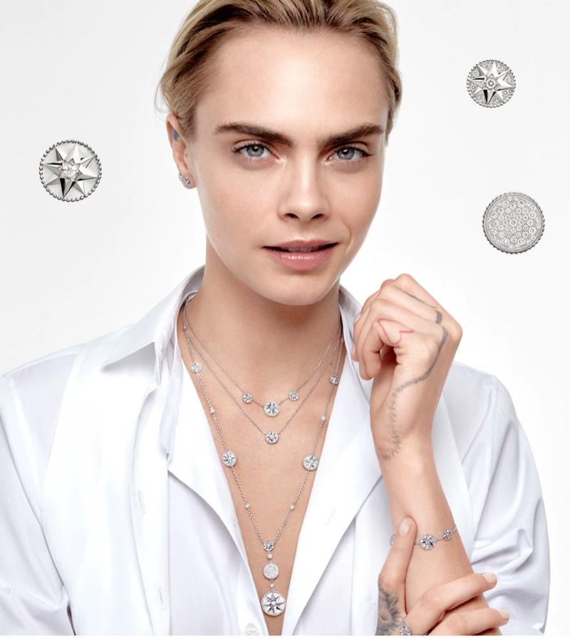 Dior Rose Des Vents 2021 jewelry campaign.