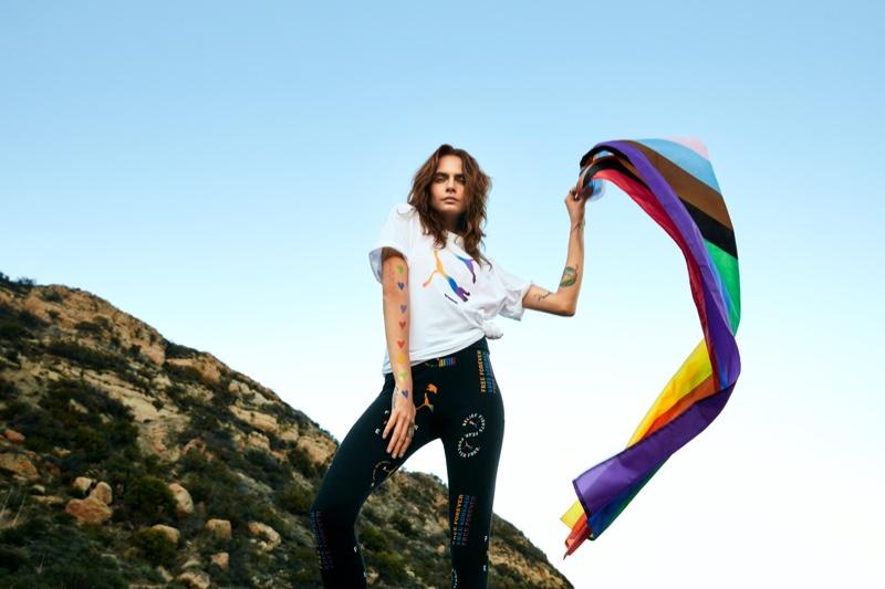 Cara Delevingne stars in PUMA Pride Forever Free 2021 campaign.