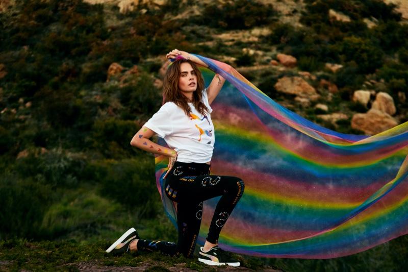 Model and actresses Cara Delevingne fronts PUMA Pride 2021 campaign.