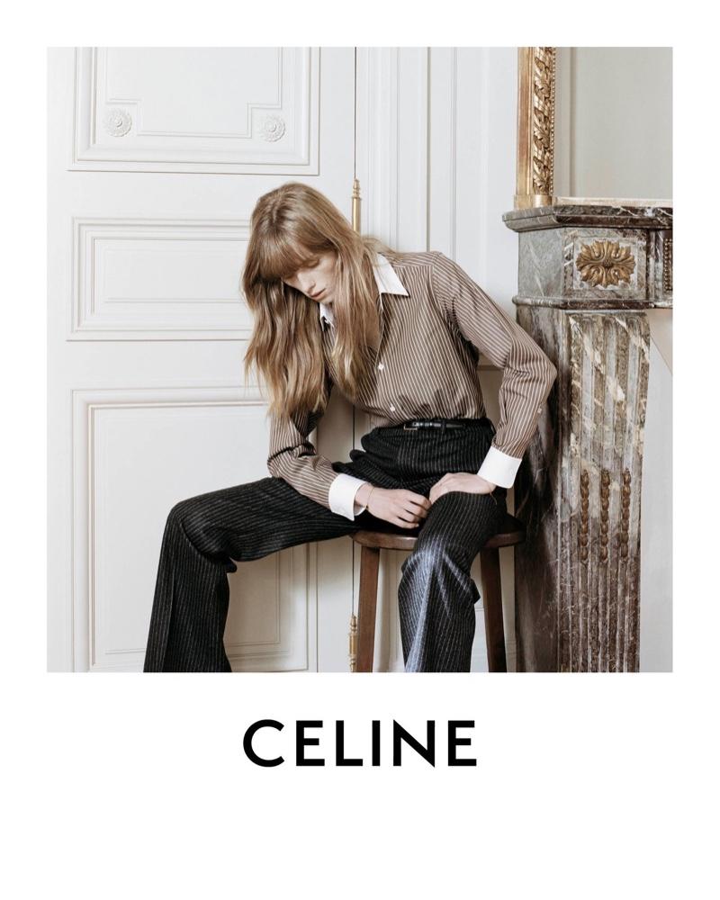 Rianne van Rompaey stars in Celine Les Grand Classiques session 3 campaign.