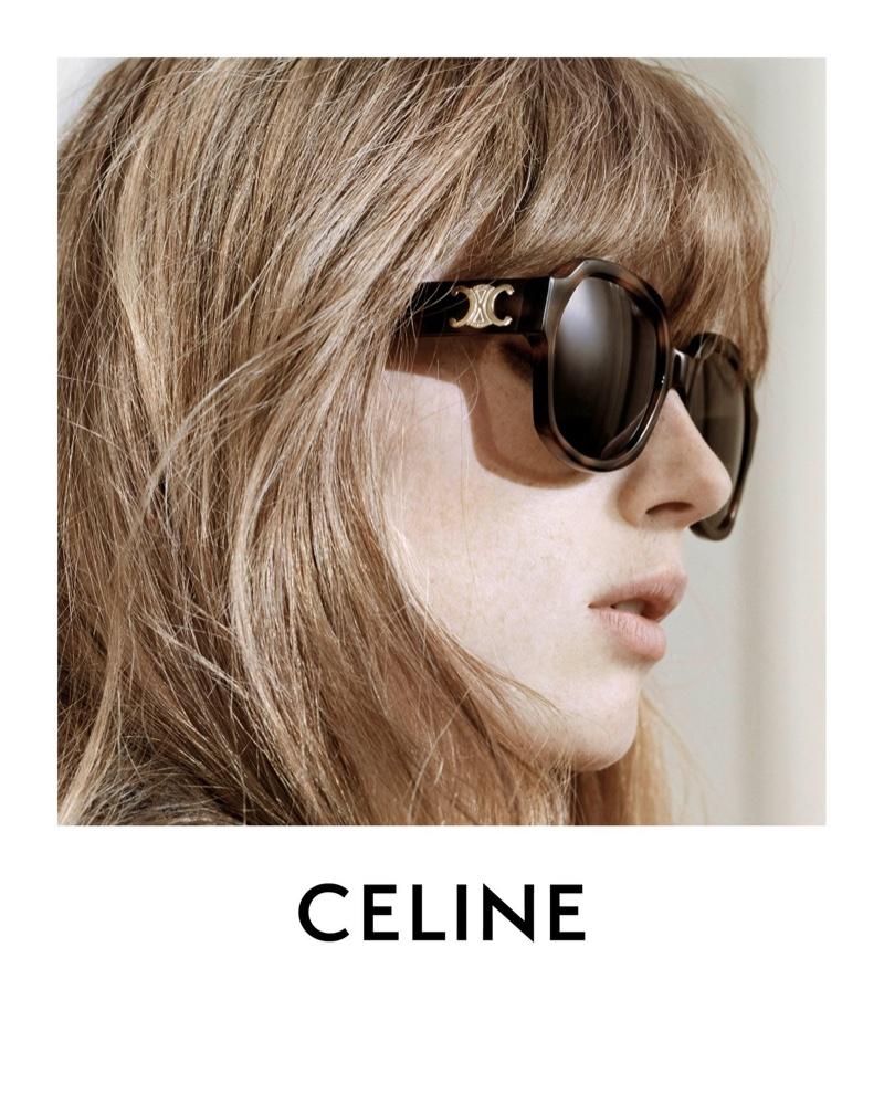 Celine features Triomphe sunglasses in Les Grand Classiques session 3 campaign.