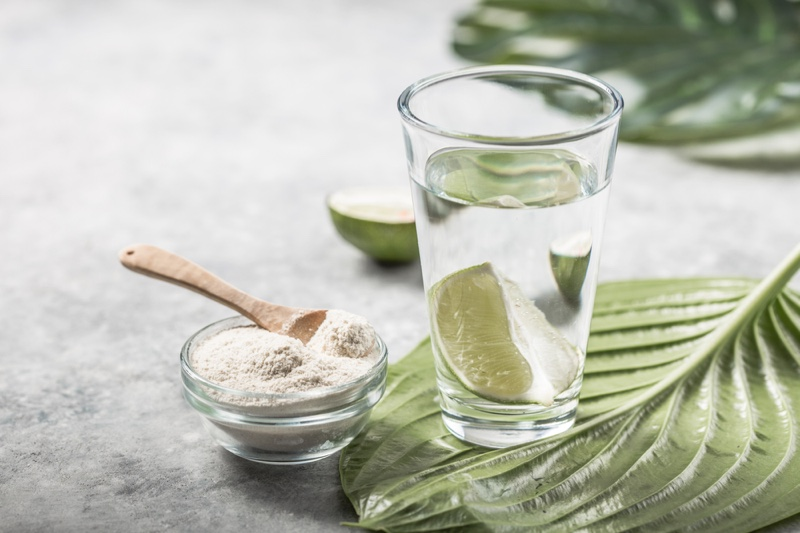 Collagen Supplement Water Lime Lifestyle