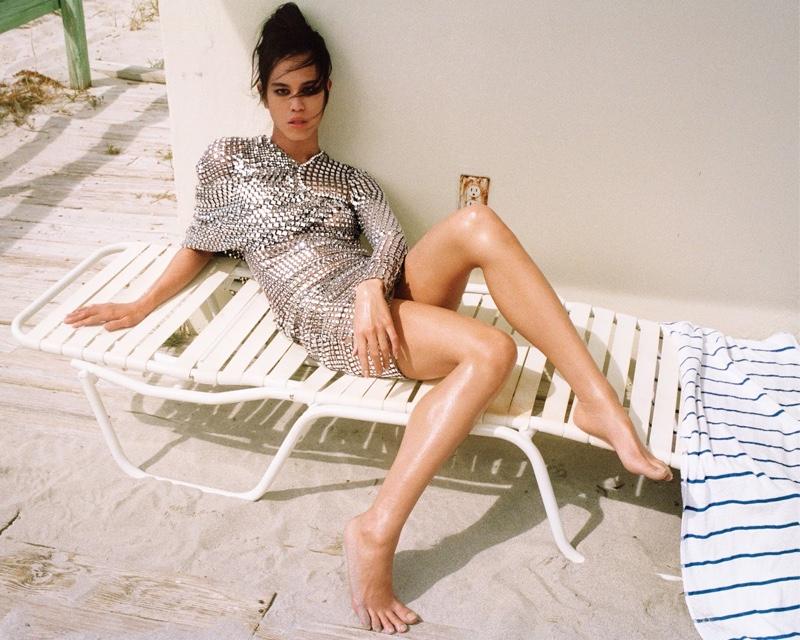 Dara Allen Models Beach Styles for WSJ. Magazine