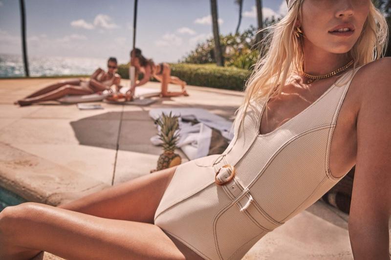 Devon Windsor Swim features one-piece styles in spring 2021 campaign.