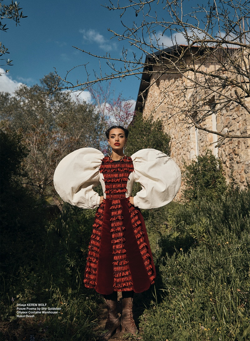 Eden Fines Poses in Countryside Styles for Glamour Bulgaria