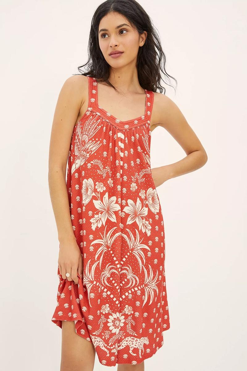 Farm Rio Palm Tree Printed Mini Dress $158