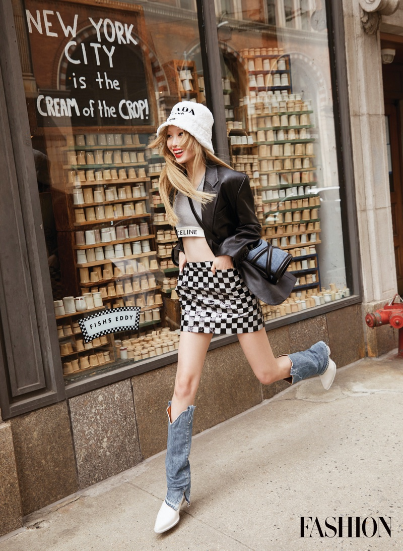 Fernanda Ly Poses in Chic Street Styles for FASHION Magazine