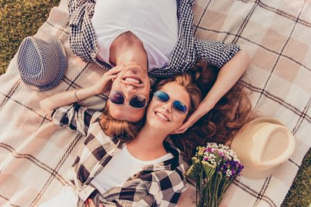 Happy Couple Outdoors Picnic