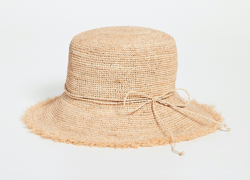 Hat Attack Packable Raffia Bucket Hat $115