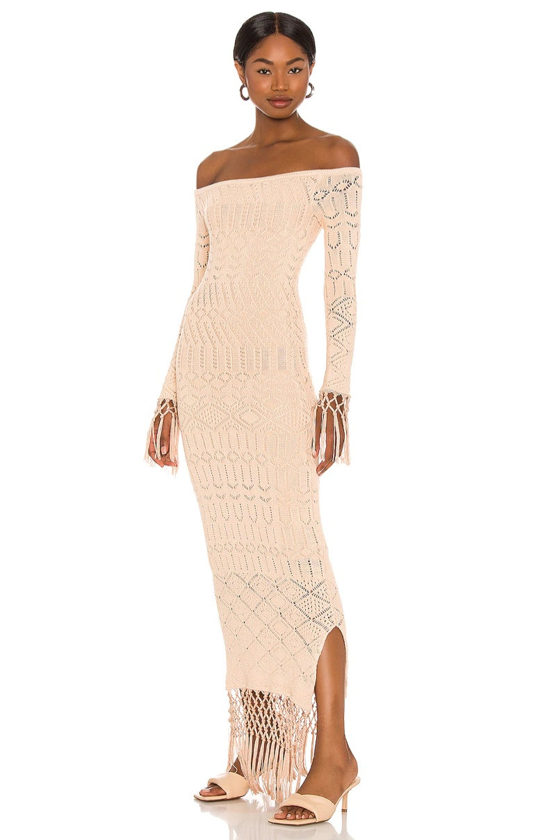 House of Harlow 1960 x Sofia Richie Rose Dress in Nude $228