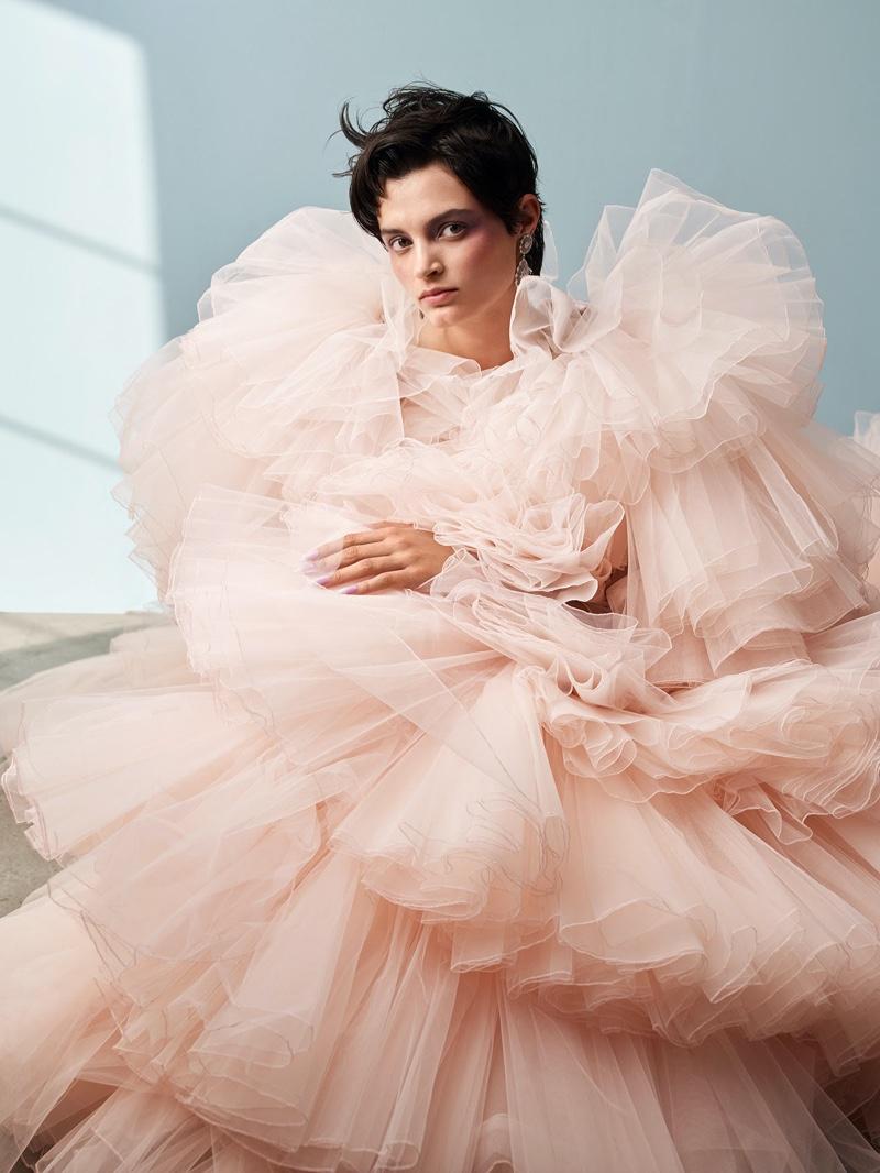 Isabella Emmack Embraces Haute Couture Designs for Glass Magazine