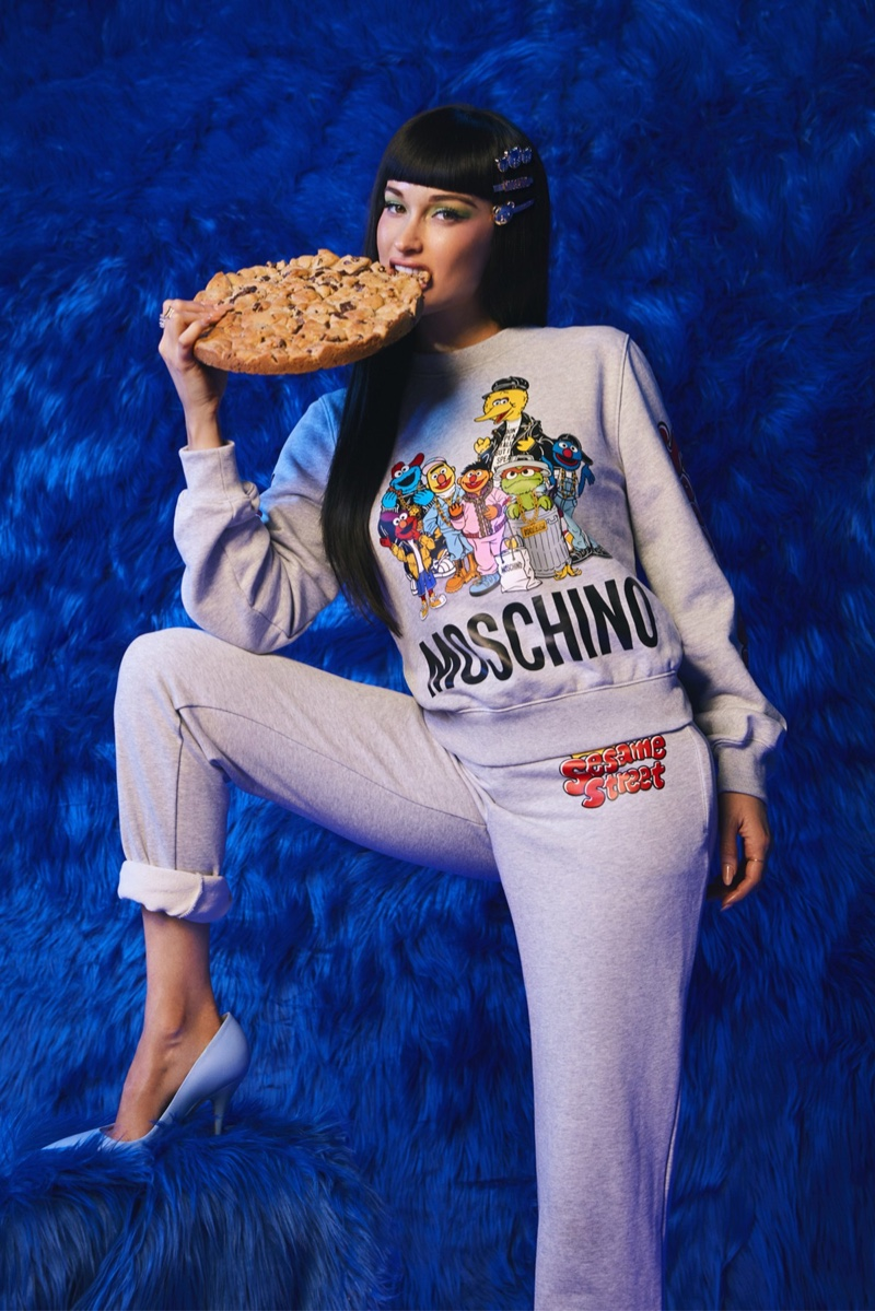 Kacey Musgraves stars in Moschino x Sesame Street campaign.