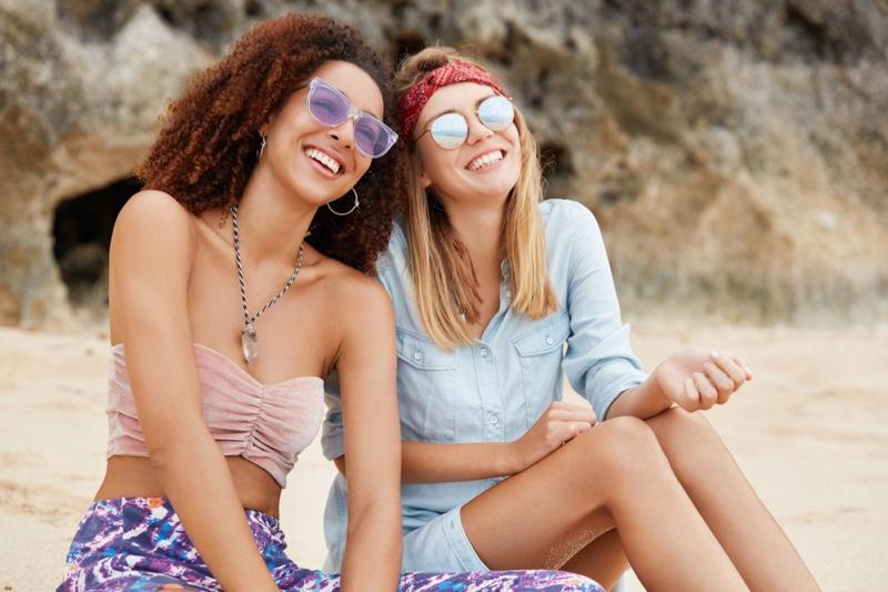 LGBT Couple Desert Happy Hippie Style