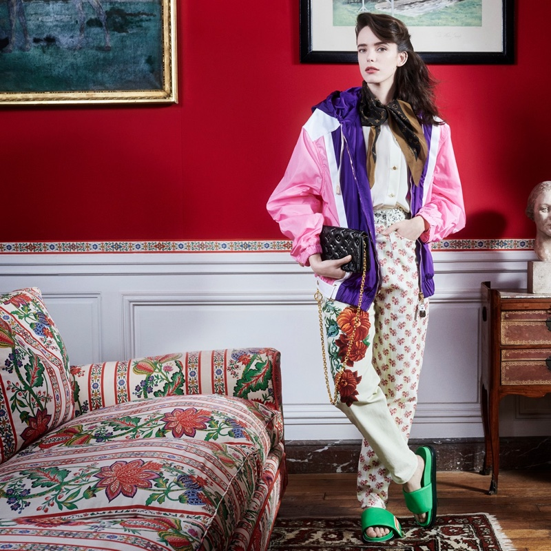 Stacy Martin stars in Louis Vuitton pre-fall 2021 campaign.