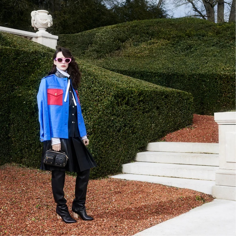 Stacy Martin appears in Louis Vuitton pre-fall 2021 campaign.