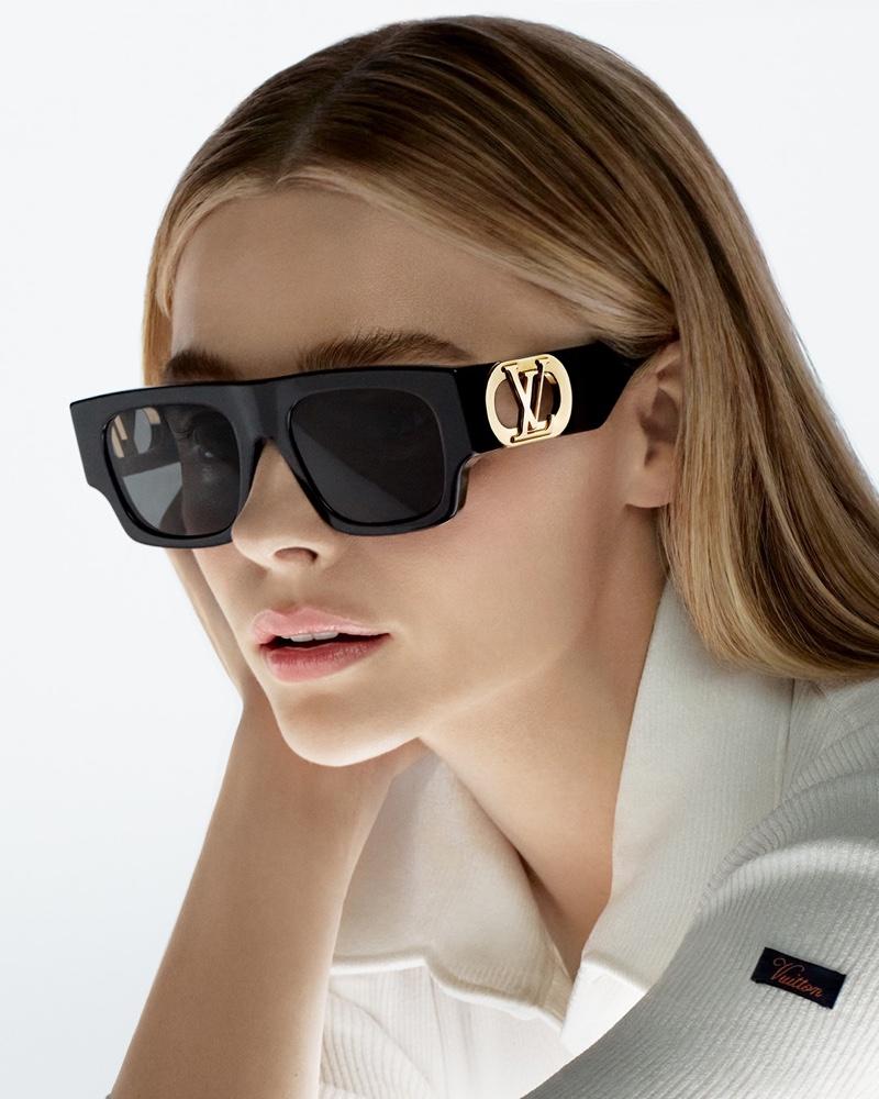 Chloe Grace Moretz poses for Louis Vuitton sunglasses 2021 campaign.
