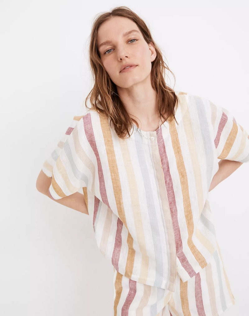 Madewell x LAUDE the Label Bo Button-Down Shirt in Painter Stripe $128