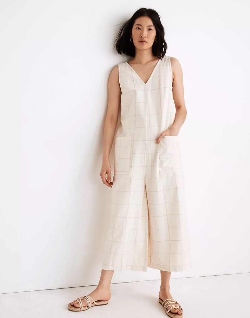 Madewell x LAUDE the Label Pocket Jumpsuit in Windowpane $198