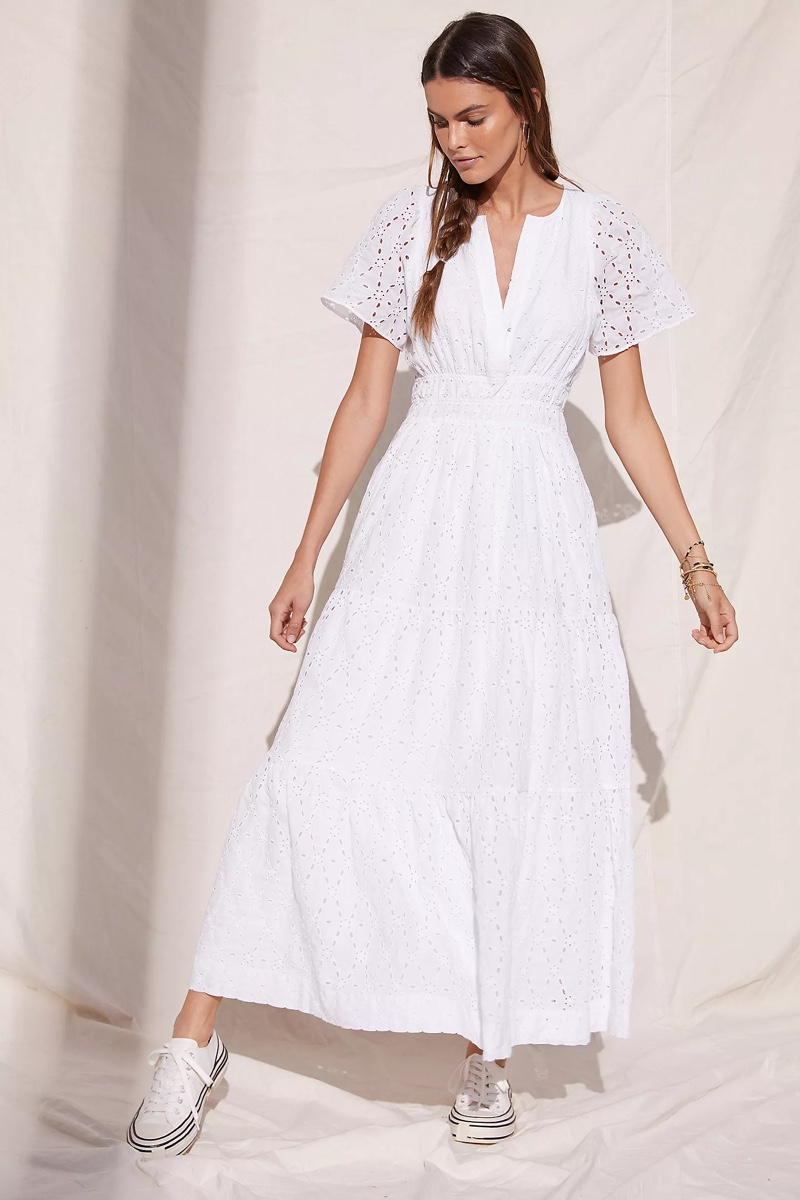 Maeve Somerset Maxi Dress in Ivory $178
