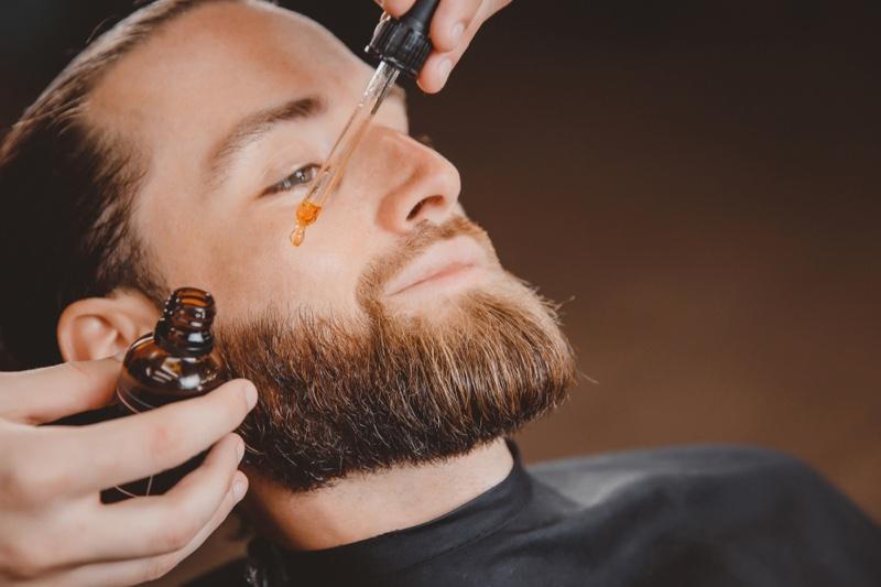 Man Beard Oil Grooming