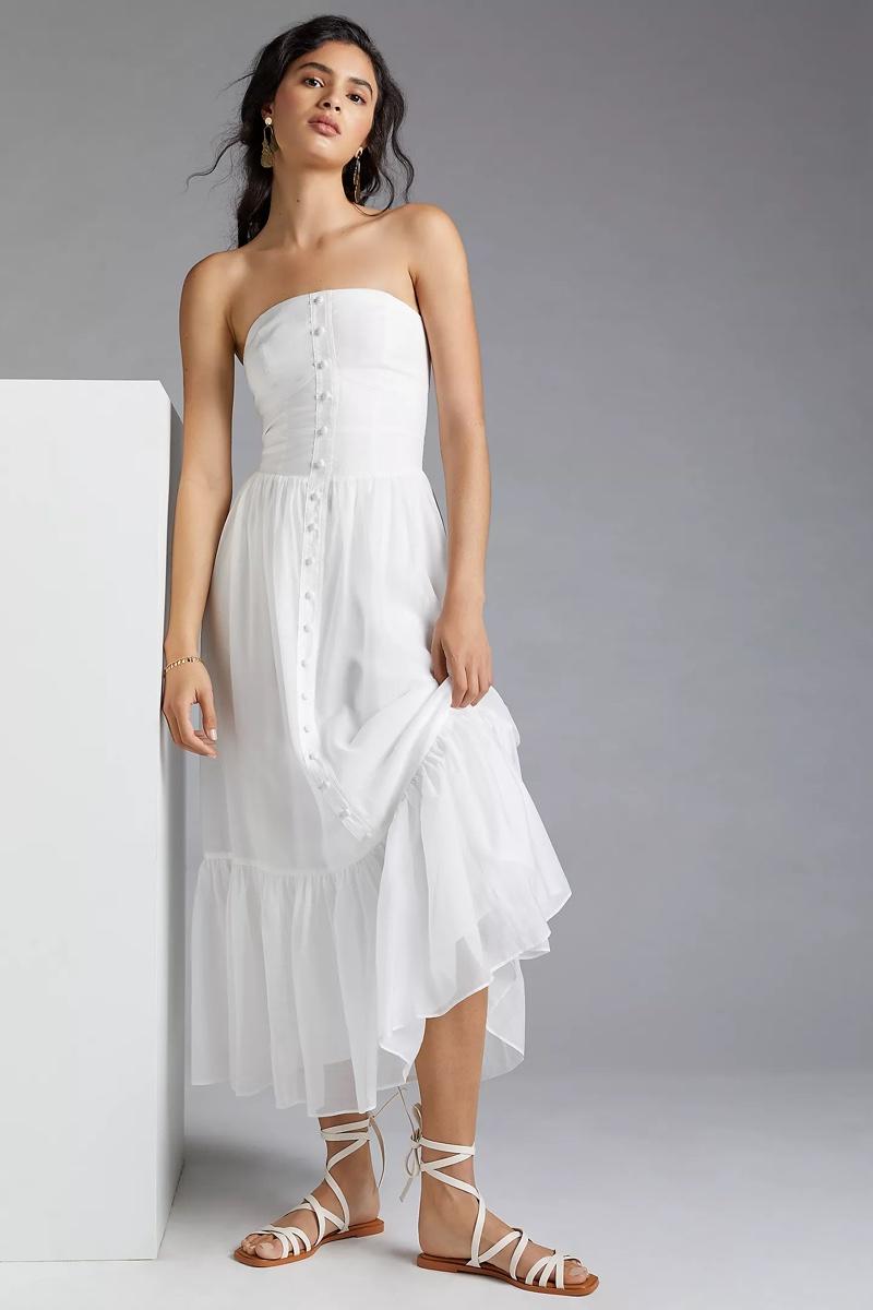 Mare Mare Island Flounced Maxi Dress $170