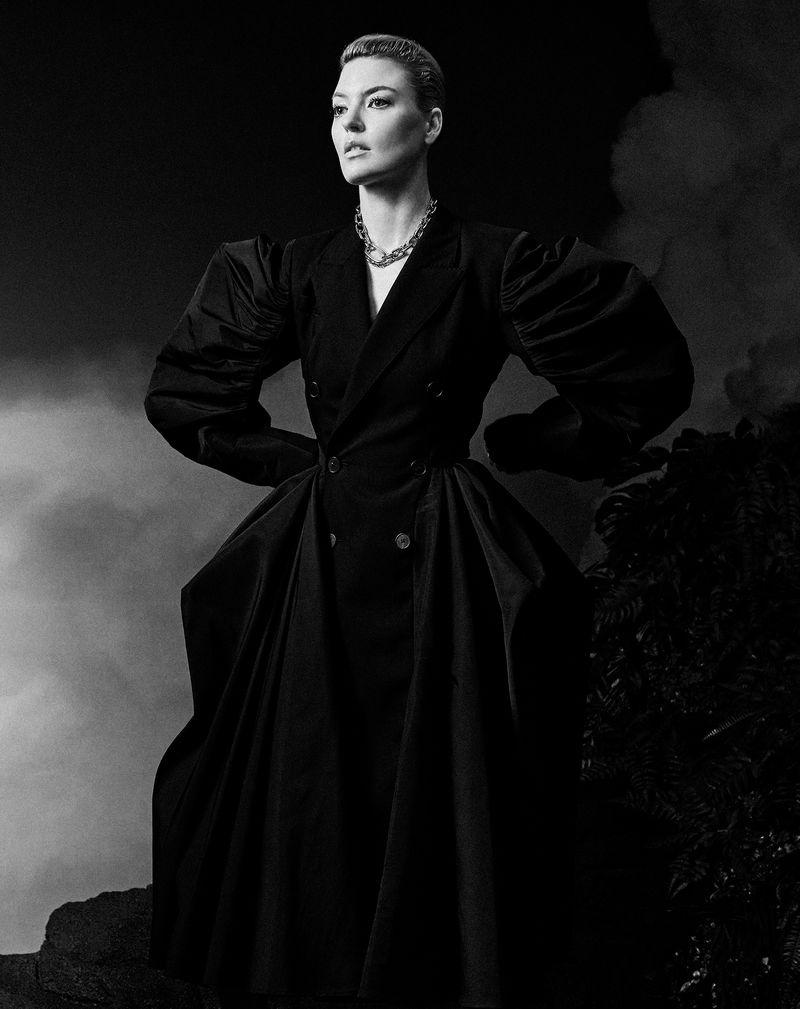 Martha Hunt Models Elegant Looks for Harper's Bazaar Turkey