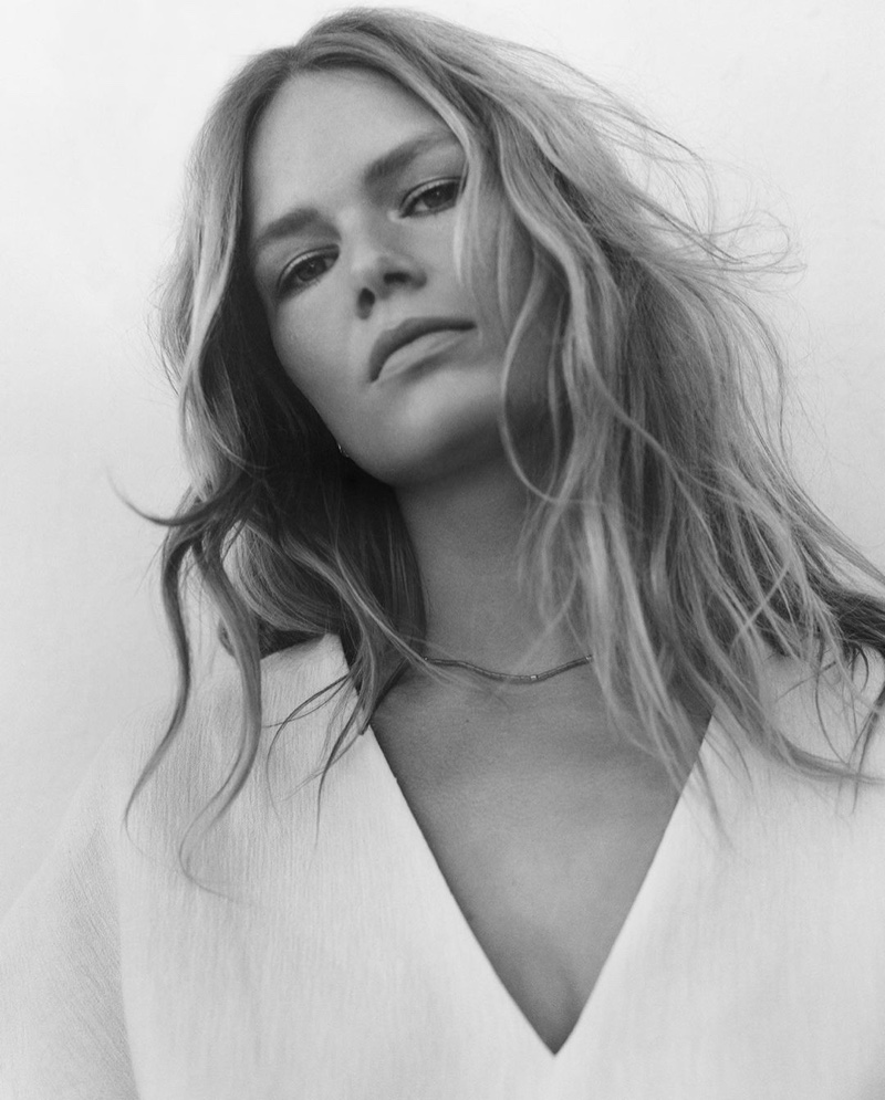 Anna Ewers fronts Massimo Dutti Cahier de Voyage spring-summer 2021 trend guide.
