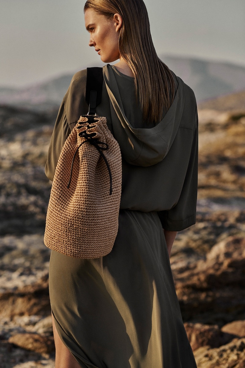 Elsemarie Riis poses for Massimo Dutti Natural Elements spring-summer 2021 editorial.